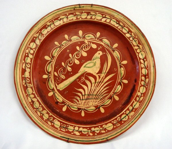 Vintage Mexican Oaxacan Pottery Plate