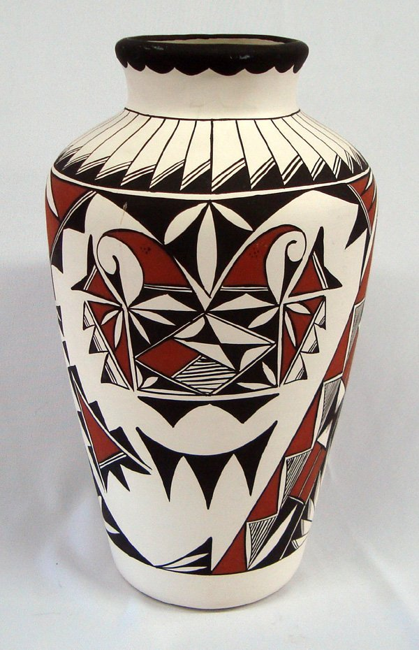 Acoma Vase Painted by D. T.