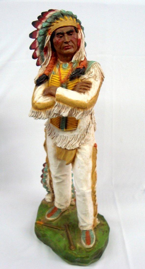 1980 Full Body Chalk Chief Statue