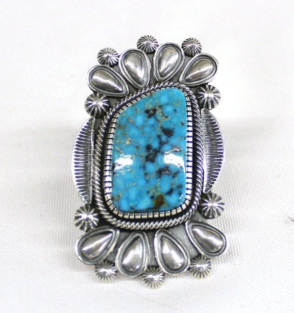 Navajo Sterling Kingman Turquoise Ring - Vandever