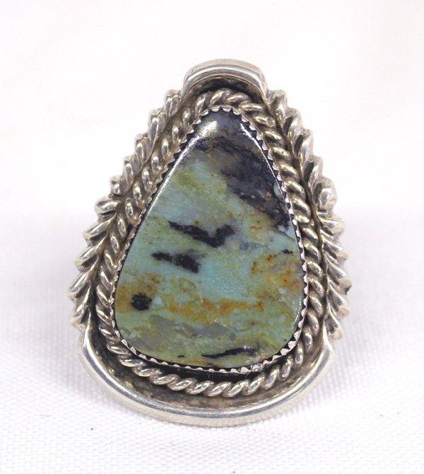 Navajo Green Nevada Turquoise Ring Hallmark