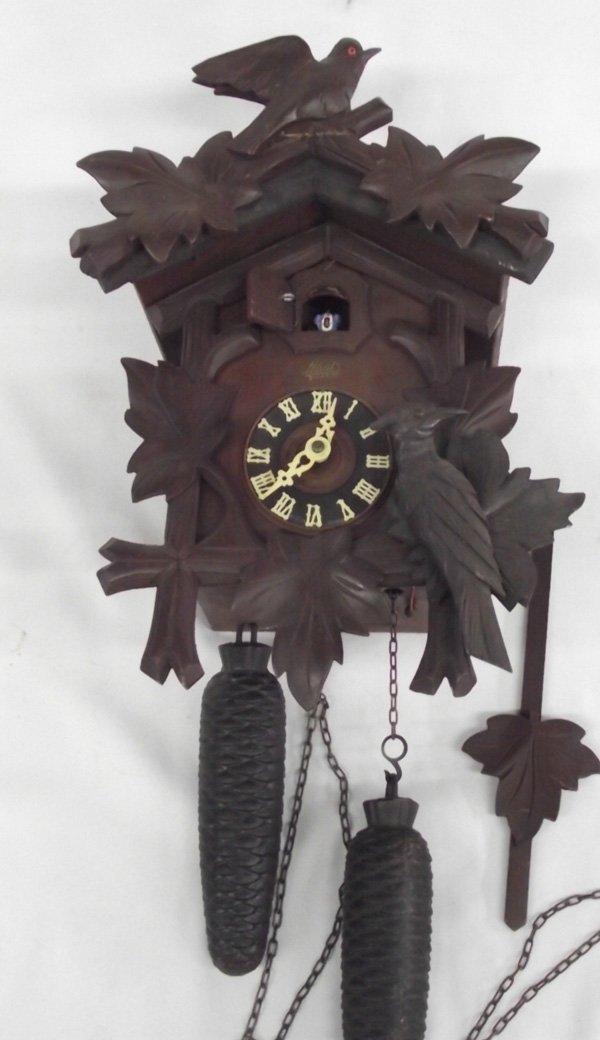 german vintage wooden schatz 8 day cuckoo clock