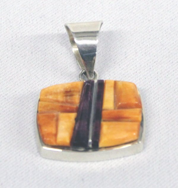 Navajo Sterling Stone-to-Stone Inlay Pendant