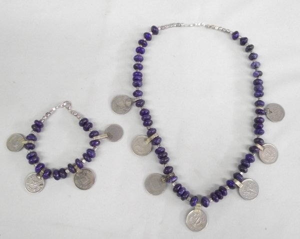 Tribal Coin & Lapis Necklace & Bracelet-Judy Young