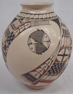 Mata Ortiz Polychrome Double Fish Jar - Gaona