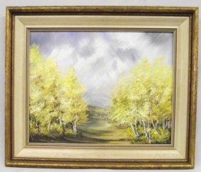 Original Mountain Pastoral Oil Painting--Flanders