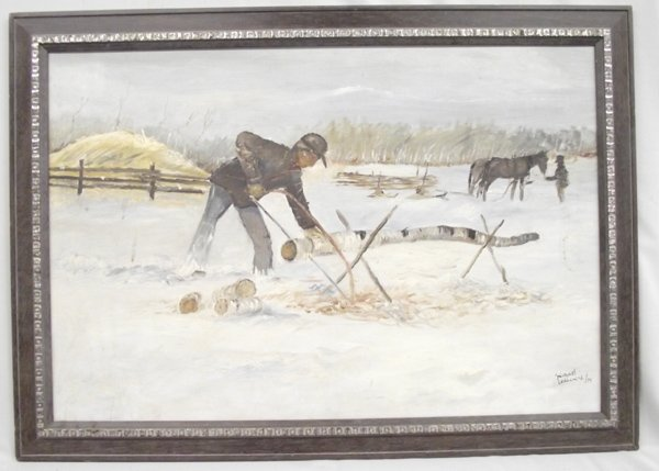 1974 Original Framed Painting by Michael Longchild