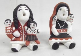 Acoma Storyteller Pottery Dolls by Hummingbird