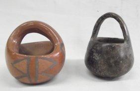 Vintage Pueblo Pottery Baskets