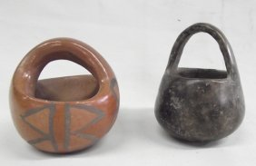 Vintage Pueblo Pottery Baskets