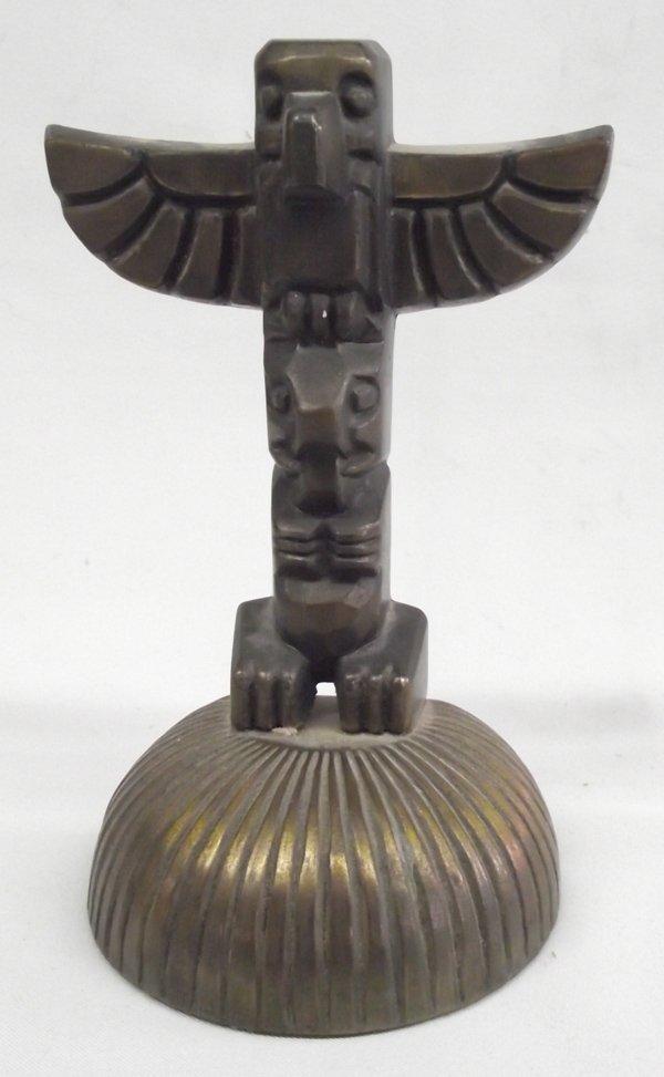 Brass Totem Pole by Cygnus Inc. Edmonds, WA