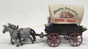 Vintage Cast Iron Advertising Connestoga Wagon