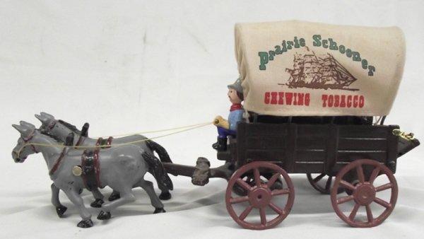 Vintage Cast Iron Advertising Connestoga Wagon