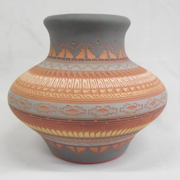 Navajo Etched Pottery by C. Torres - 2