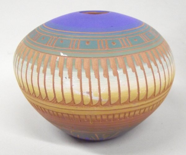 Navajo Etched Pottery by C. Torres - 6