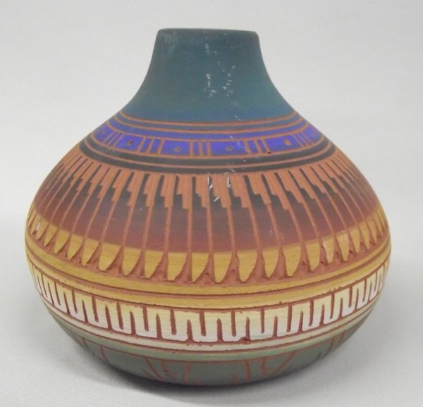 Navajo Etched Pottery by C. Torres - 7
