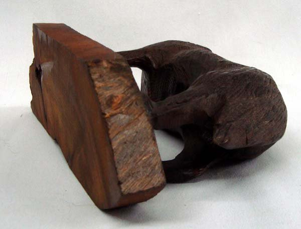 Wooden Wolf Carving - 3