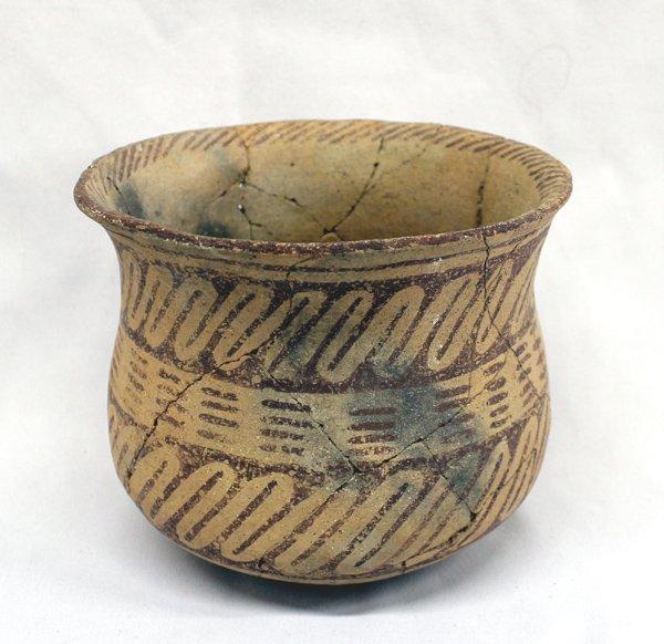 Prehistoric Hohokam Geometric Flared Rim Jar