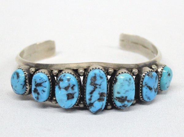 Navajo Sterling Turquoise Bracelet - RG