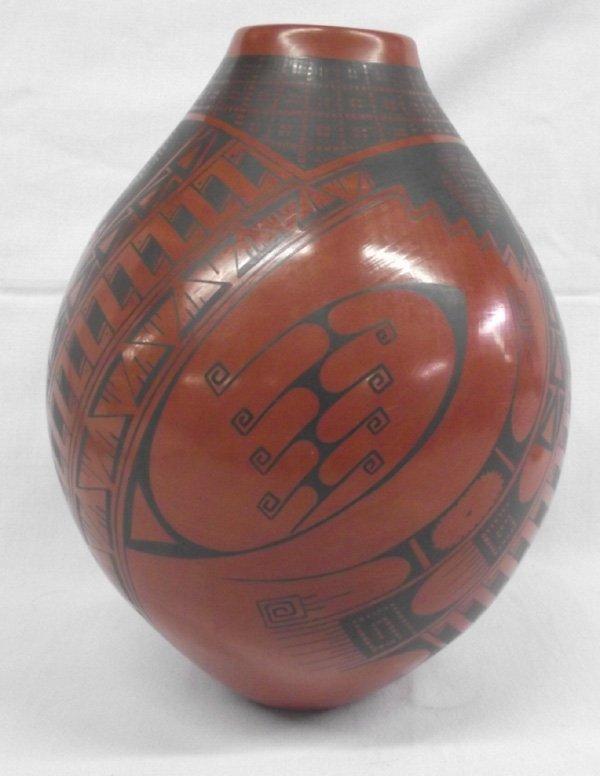 Mata Ortiz Black on Red Pottery Jar - Cesar Bugarini
