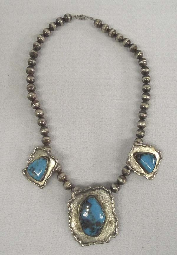 Navajo Pawn Sterling Turquoise Choker