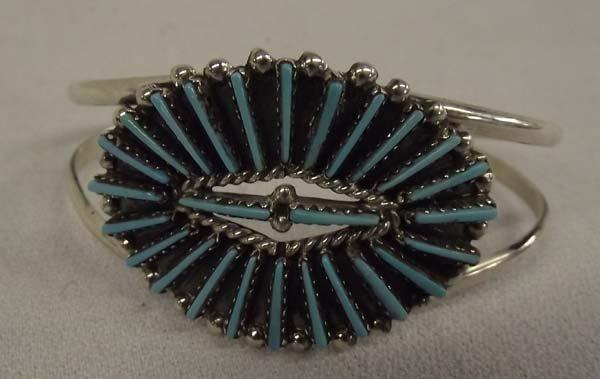 Zuni Needlepoint Turquoise Bracelet - JV