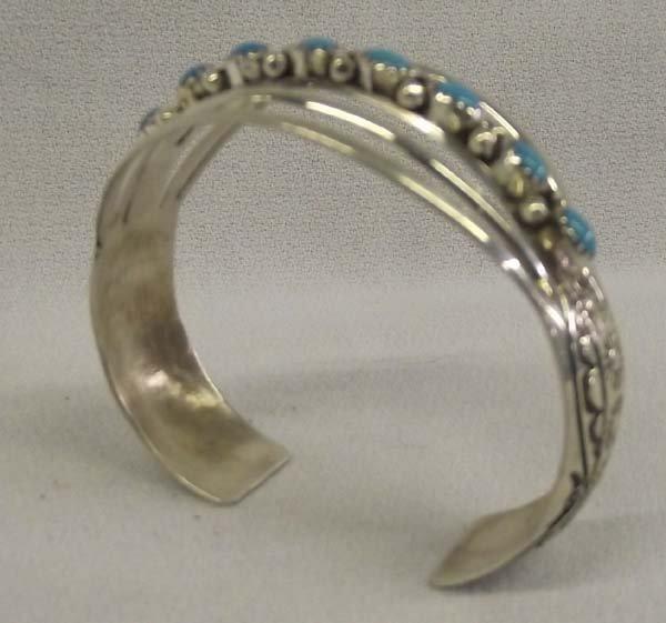 Navajo Sterling Turquoise Bracelet - W.B.