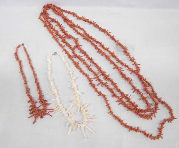 3 Branch Coral Necklaces