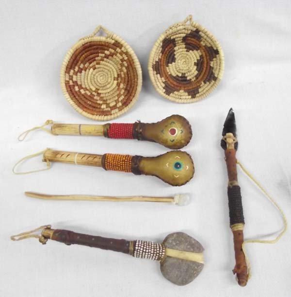 Ethnic Woven Baskets - Handmade Rattles - & Tom Toms