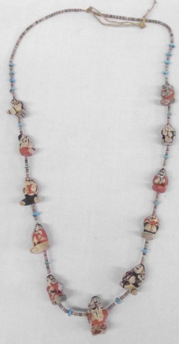 Santo Domingo Story Teller  Doll Necklace