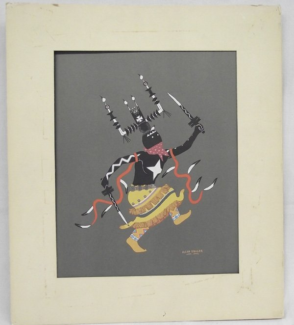 Silkscreen Print  Apache Gan Dancer - Allan Houser