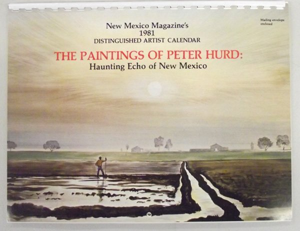 1981 New Mexico Artist Magazine Calendar of Peter Hurd