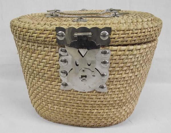 Chinese Wicker Basket Tea Set - 3