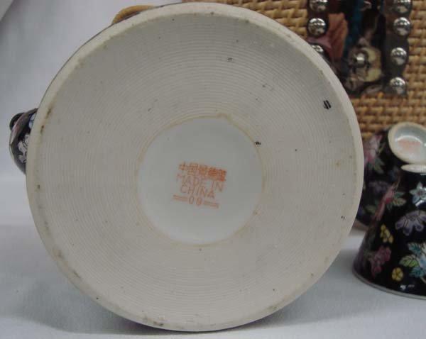 Chinese Wicker Basket Tea Set - 5