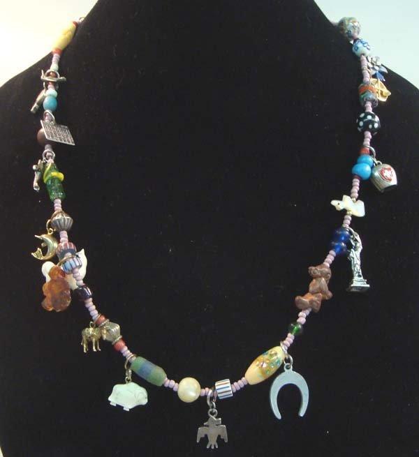 1950 Navajo Charm Treasure Necklace