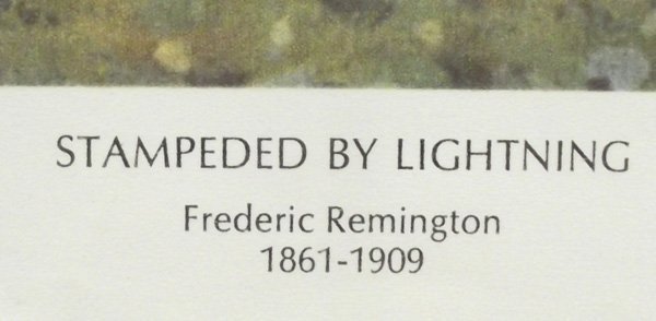 Framed Remington Print, ''Stampeded by Lightning'' - 3
