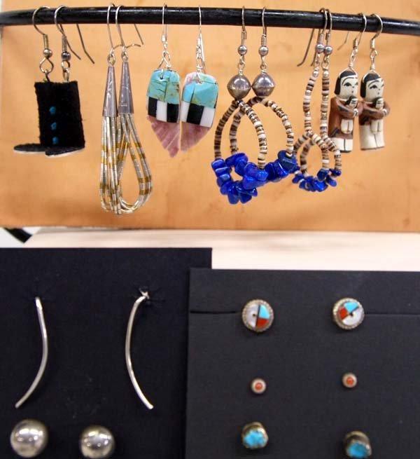 11 Pr  Native American Pierced Earrings