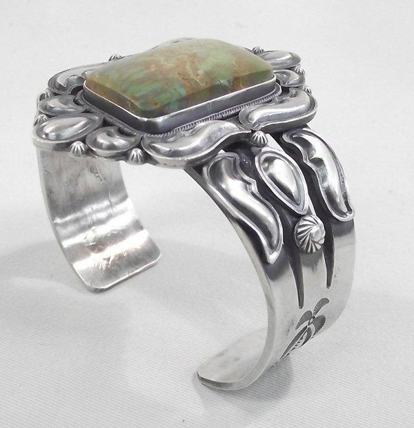 Navajo Green Turquoise Cuff Bracelet- F.Maloney