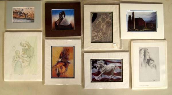 8 Southwestern Scene Matted Prints