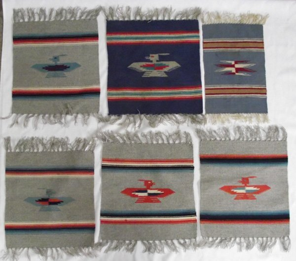 Six Chimayo, New Mexico Design Weavings