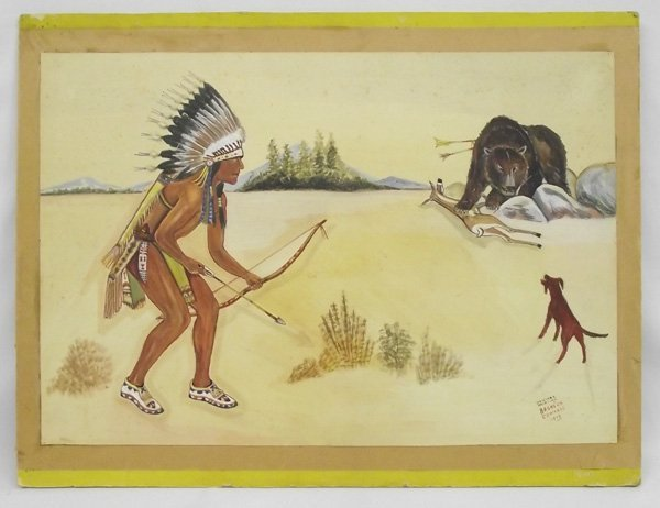 1938 Original Painting - Bronson Edwards
