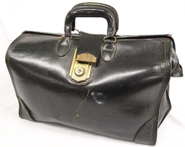 Antique Leather Valise by C H Ellis Company
