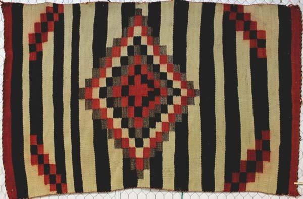 Large Navajo 1920 Traditional Eyedazzler Rug