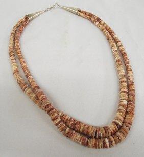 Native American Santo Domingo Shell Bead Necklace