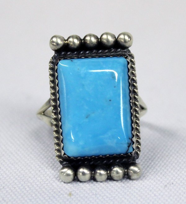 Navajo Sterling Turquoise Ring - Jerry Bahe
