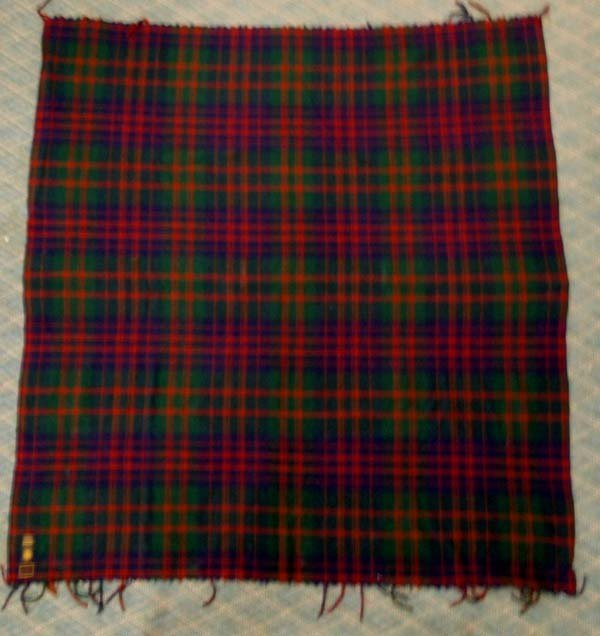 1930-50 Scotch Plaid Wool Horner Brothers Blanket