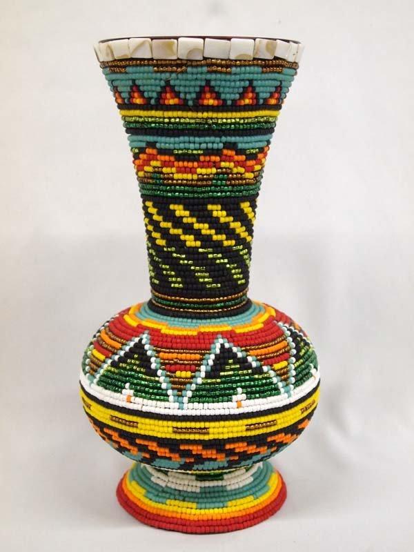 Tall Beaded Vase - Kills Thunder