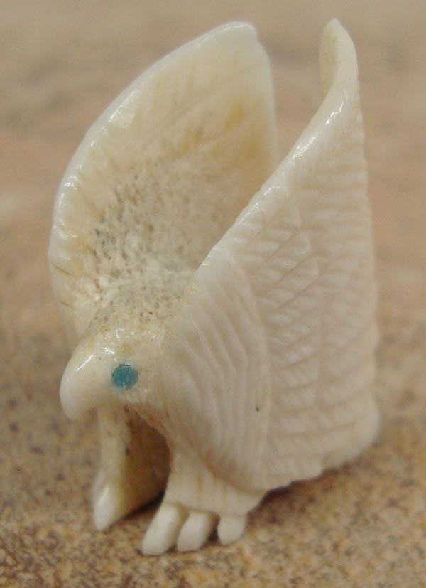Zuni Carved Bone Eagle Fetish