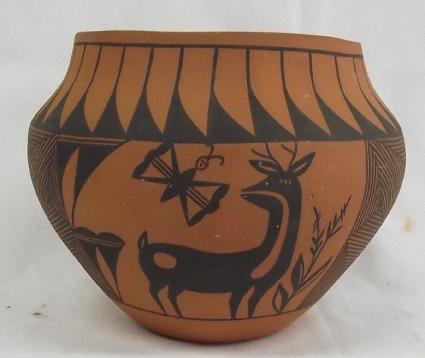 Laguna Pottery Bowl Deer Designs - T.S.
