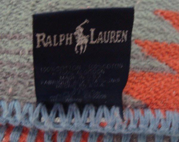Southwest Style Cotton Blanket by Ralph Lauren - 4
